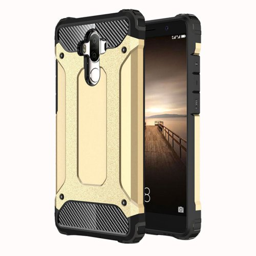 For Huawei Mate 9 Gold Tough Armor TPU + PC Combination Case