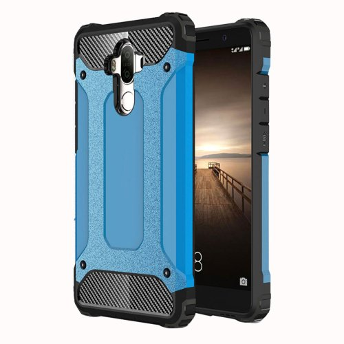 For Huawei Mate 9 Blue Tough Armor TPU + PC Combination Case
