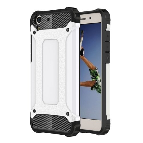 For Huawei Honor 5A White Tough Armor TPU + PC Combination Case