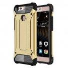 For Huawei P9 Plus Gold Tough Armor TPU + PC Combination Case