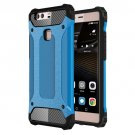 For Huawei P9 Plus Blue Tough Armor TPU + PC Combination Case