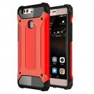 For Huawei P9 Plus Red Tough Armor TPU + PC Combination Case
