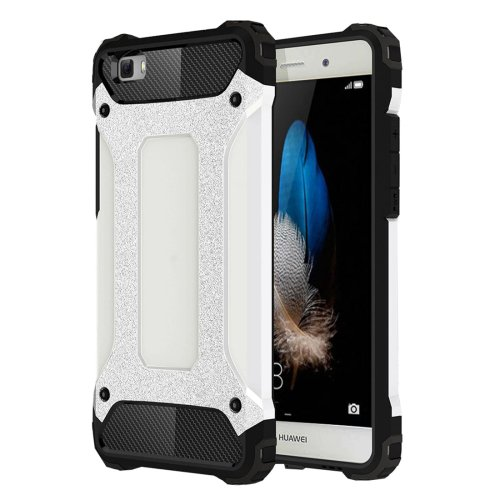 For Huawei P8 Lite White Tough Armor TPU + PC Combination Case