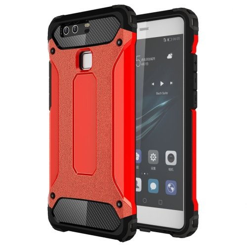 For Huawei P9 Red Tough Armor TPU + PC Combination Case