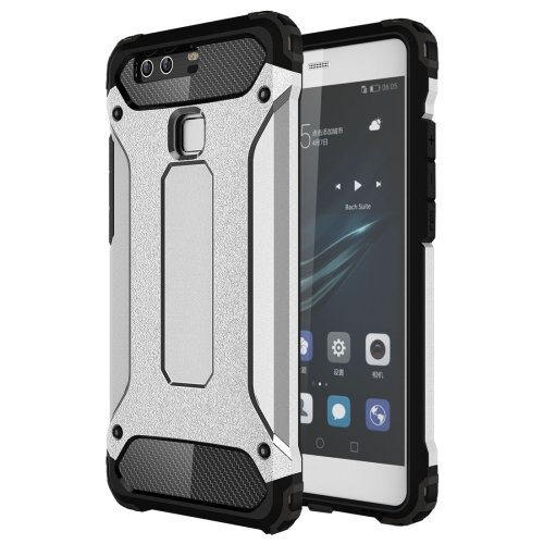 For Huawei P9 Silver Tough Armor TPU + PC Combination Case