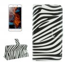 For Lemon 3 Zebra Pattern Leather Case with Holder, Card Slots & Wallet