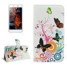 For Lemon 3 Butterfly Pattern Leather Case with Holder, Card Slots & Wallet