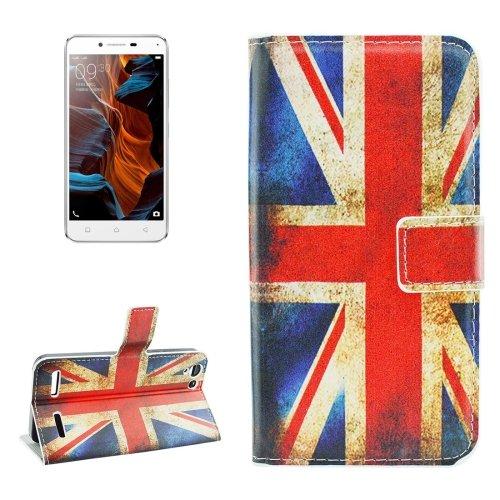 For Lemon 3 UK Flag Pattern Leather Case with Holder, Card Slots & Wallet