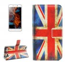 For Lemon 3 UK Flag Pattern Leather Case with Holder, Card Slots & Wallet