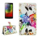 For Lenovo A2010 Crystal Pattern Leather Case with Holder, Card Slots & Wallet