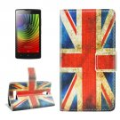For Lenovo A2010 UK Flag Pattern Leather Case with Holder, Card Slots & Wallet