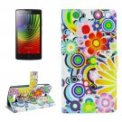 For Lenovo A2010 Fireworks Pattern Leather Case with Holder, Card Slots & Wallet