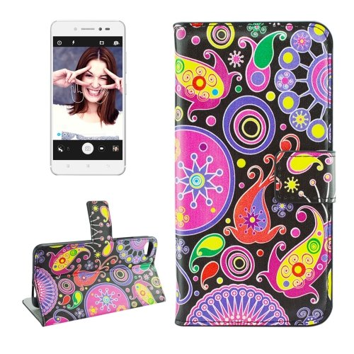 For Lenovo S90 Acaleph Pattern Leather Case with Holder, Card Slots & Wallet