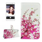 For Lenovo S90 Blossom Pattern Leather Case with Holder, Card Slots & Wallet