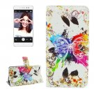 For Lenovo S90 Crystal Pattern Leather Case with Holder, Card Slots & Wallet