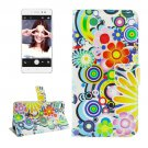 For Lenovo S90 Fireworks Pattern Leather Case with Holder, Card Slots & Wallet