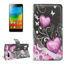 For Lenovo K3 Crystal Pattern Leather Case with Holder, Card Slots & Wallet