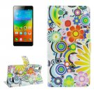 For Lenovo K3 Fireworks Pattern Leather Case with Holder, Card Slots & Wallet