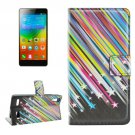For Lenovo K3 Meteor Pattern Leather Case with Holder, Card Slots & Wallet