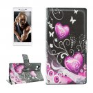 For Lenovo P70t Crystal Pattern Leather Case with Holder, Card Slots & Wallet