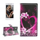 For Lenovo P70t Peach Pattern Leather Case with Holder, Card Slots & Wallet