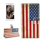 For Lenovo P70t US Flag Pattern Leather Case with Holder, Card Slots & Wallet