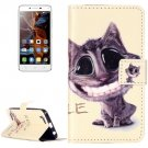 For Vibe K5 Smiling Pattern Leather Case with Holder, Card Slots & Wallet