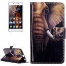 For Vibe K5 Elephant Pattern Leather Case with Holder, Card Slots & Wallet