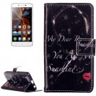 For Vibe K5 Lip Girl Pattern Leather Case with Holder, Card Slots & Wallet