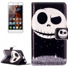 For Vibe K5 Ghost Pattern Leather Case with Holder, Card Slots & Wallet