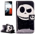 For Lenovo A6000 Skull Pattern Leather Case with Holder, Card Slots & Wallet