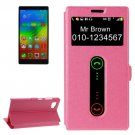 For Lenovo Vibe Z2 Magenta Flip Leather Case with Caller ID Display & Holder