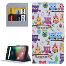 For Moto G 4 Gen Owls Pattern  Leather Case with Holder, Card Slots & Wallet