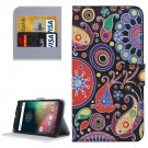 For Moto G 4 Gen Acaleph Pattern  Leather Case with Holder, Card Slots & Wallet
