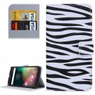 For Moto G 4 Gen Zebra Pattern  Leather Case with Holder, Card Slots & Wallet