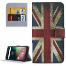 For Moto G 4 Gen UK Flag Pattern Leather Case with Holder, Card Slots & Wallet