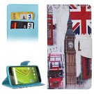 For Moto X Style Big Ben Pattern Leather Case with Holder, Card Slots & Wallet