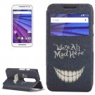 For Moto G 3 Gen ALL MAD Pattern Leater Case with Holder & Caller ID Display