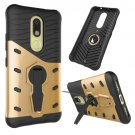 For Moto M Gold Hybrid Case TPU + PC Rotating Case with Holder