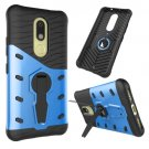 For Moto M Blue Hybrid Case TPU + PC Rotating Case with Holder