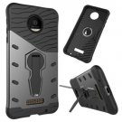 For Moto Z Force Black Spin Tough Armor TPU + PC Rotating Case with Holder