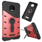 For Moto Z Force Red Spin Tough Armor TPU + PC Rotating Case with Holder