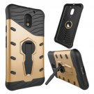 For Moto E  3 Gen Gold Spin Tough Armor TPU + PC Rotating Case with Holder