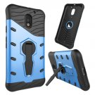 For Moto E  3 Gen Blue Spin Tough Armor TPU + PC Rotating Case with Holder