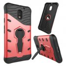 For Moto E  3 Gen Red Spin Tough Armor TPU + PC Rotating Case with Holder