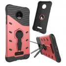 For Moto Z Droid Red Spin Tough Armor TPU + PC Rotating Case with Holder