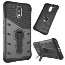 For Moto G4/G4+ Black Spin Tough Armor TPU + PC Rotating Case with Holder