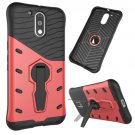 For Moto G4/G4+ Red Spin Tough Armor TPU + PC Rotating Case with Holder