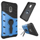 For Moto G4 Play Blue Spin Tough Armor TPU + PC Rotating Case with Holder