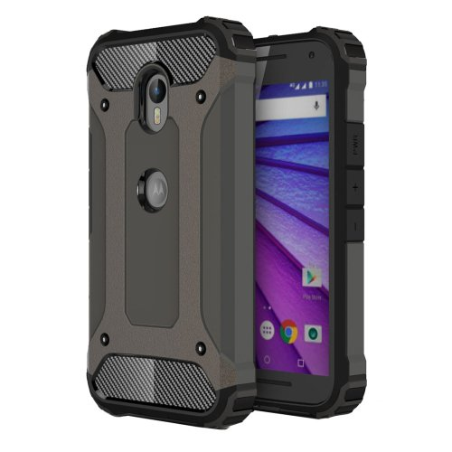 For Moto G (3rd gen) Coffee Tough Armor TPU + PC Combination Case